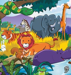 Animals and their habitats vector