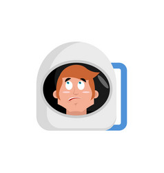 astronaut surprised emoji cosmonaut amazement vector image vector image