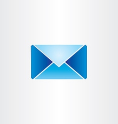 Blue letter envelope mail symbol vector