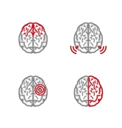 Brain Pain Icon vector image