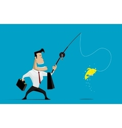 Businessman fishing vector