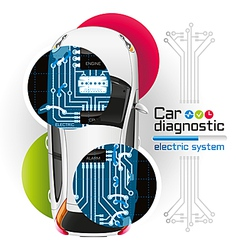 Car diagnostic of electric system2 vector