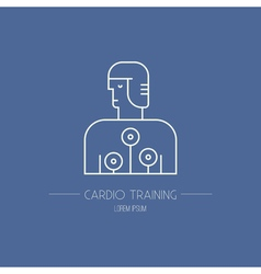 Cardio test machine logo vector