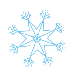 Christmas snowflake snow winter element vector