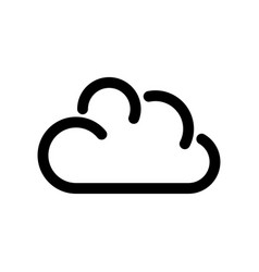 cloud icon symbol of online storage outline vector image