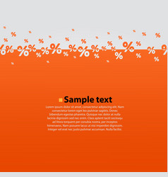 creative abstract orange percent background vector image
