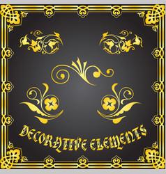 Decorative floral design elements and ornaments vector