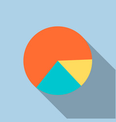 diagram pie chart icon in flat style vector image vector image