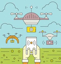 Drone flyer concept vector