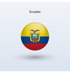 Ecuador round flag vector