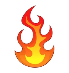 Flame icon cartoon style vector image vector image