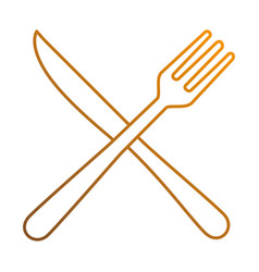 fork and knife cutlery icon vector image