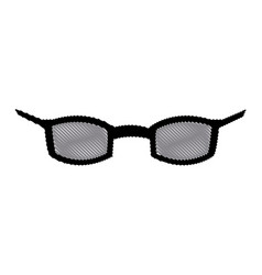Glasses accessory vision style cartoon vector
