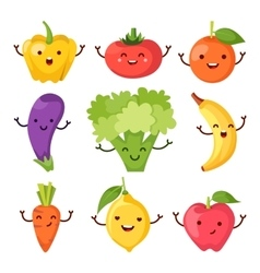 Healty food cartoon representing icons set vector