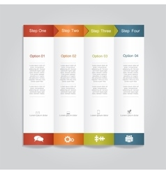 Infographic report template layout vector image vector image