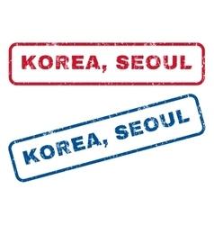 Korea seoul rubber stamps vector