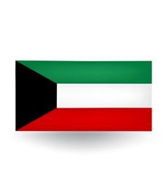 Kuwait Flag vector image vector image