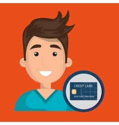 man credit card money vector image
