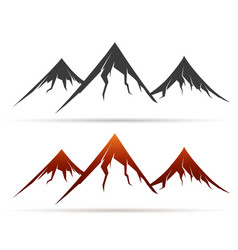 mountain icon on white background vector image vector image