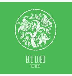 Natiral Logo 03 grunge vector image vector image