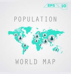 population map vector image vector image