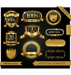satisfaction guaranteed labels vector image vector image