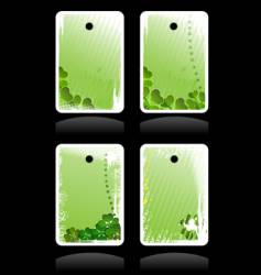 set of green banners vector image vector image