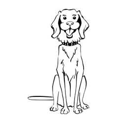 sketch funny Golden Retriever dog sitting vector image vector image