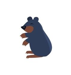 Sleeping bear simplified cute vector