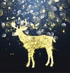 sparkle christmas deer 1310 vector image vector image