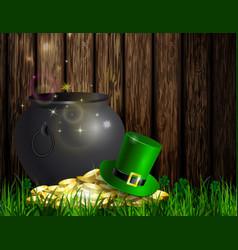 St patrick s day symbol green pot vector