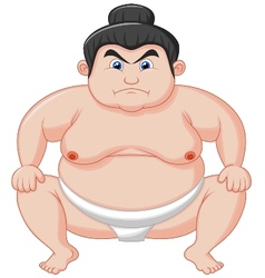 Sumo wrestler cartoon vector