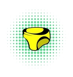 Swimming trunks icon comics style vector
