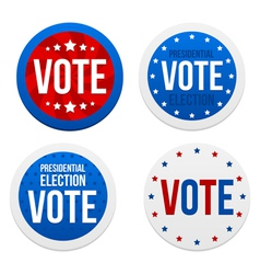 Presidential election stickers vector