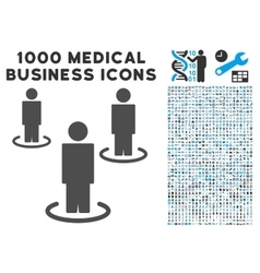 People icon with 1000 medical business pictograms vector