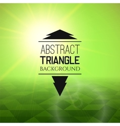 Abstract green sunset with triangle field vector
