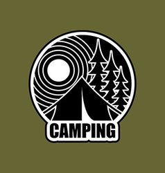 Camping logo emblem for accommodation camp vector
