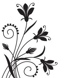 Flower back vector