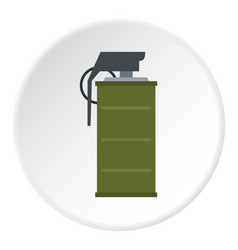 Smoke grenade icon circle vector