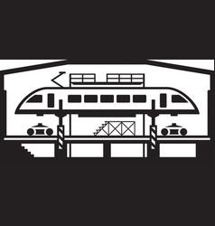 Trains repair workshop vector