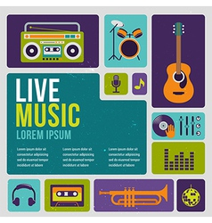 Music infographic and icon set of instruments vector