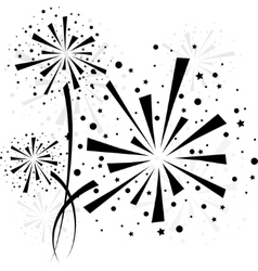 Firework black vector