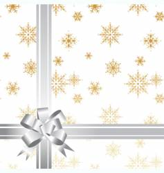 gift bow ribbon vector image