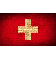 Flags switzerland with dirty paper texture vector