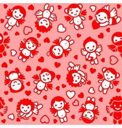 Cupids wrapping paper vector