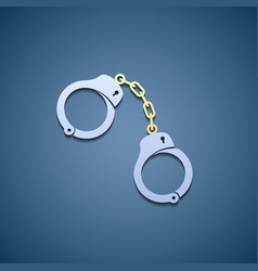 Icon handcuffs flat graphic vector