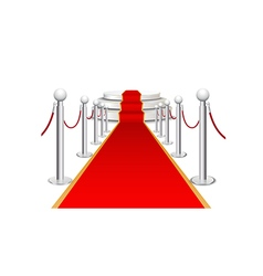 Stage and red carpet background vector image