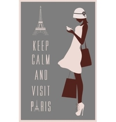 Paris travel card vector