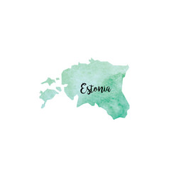 Abstract estonia map vector