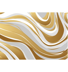 abstract marbling texture gold gray white vector image vector image